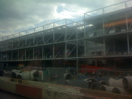 Picture of the Olympic press centre under construction